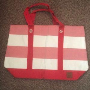 🆕 Tommy Hilfiger XL Nautical Canvas Tote Bag